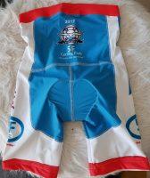 Cutom made branded padded cycle shorts rear a